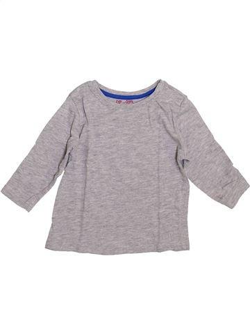 T-shirt manches longues garçon DPAM gris 9 mois hiver #1399206_1