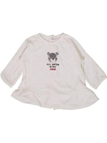 Camiseta de manga larga niña SUCRE D'ORGE blanco 6 meses invierno #1399567_1