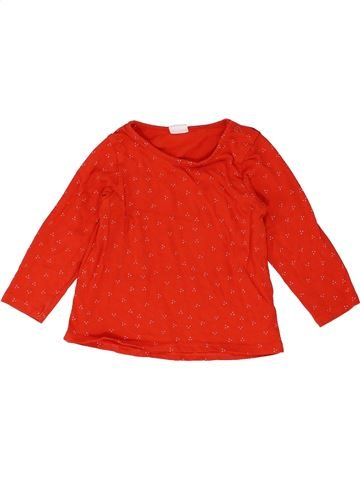 T-shirt manches longues fille H&M rouge 9 mois hiver #1399580_1