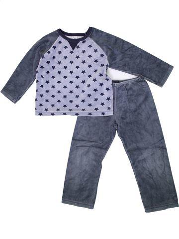 Pyjama 2 pièces garçon PETIT BATEAU bleu 5 ans hiver #1399599_1