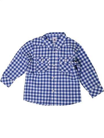 Chemise manches longues garçon PETIT BATEAU bleu 3 ans hiver #1399642_1