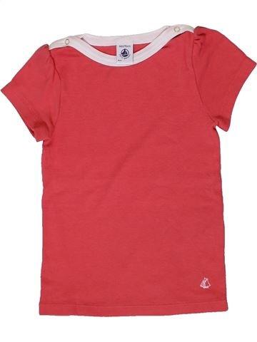 T-shirt manches courtes fille PETIT BATEAU rose 6 ans été #1399675_1