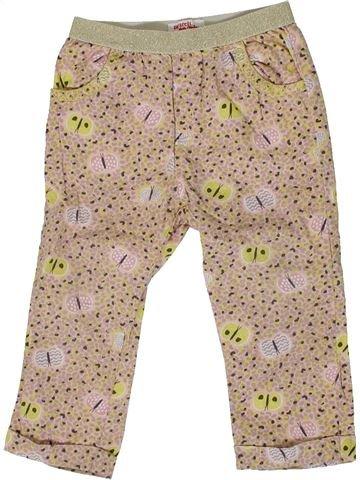Pantalon fille DPAM beige 2 ans été #1399752_1