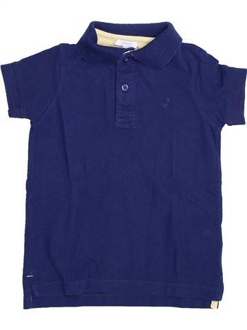 Polo manches courtes garçon JACADI bleu 4 ans été #1399892_1