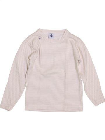 T-shirt manches longues fille PETIT BATEAU violet 5 ans hiver #1399947_1