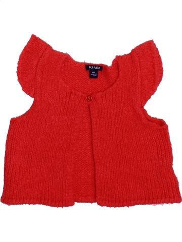 Gilet fille KIABI rouge 6 mois hiver #1399982_1