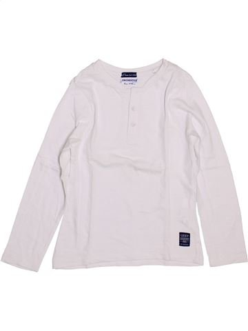 T-shirt manches longues garçon ORCHESTRA blanc 5 ans hiver #1400092_1