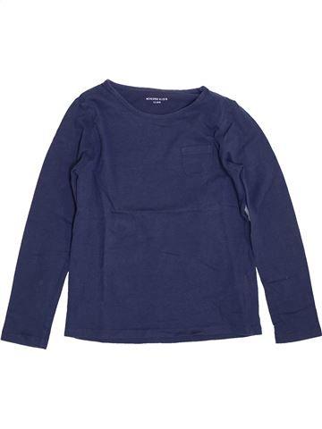 Camiseta de manga larga niña MONOPRIX azul 10 años invierno #1400267_1