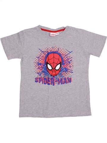 T-shirt manches courtes garçon SPIDERMAN gris 8 ans été #1400392_1