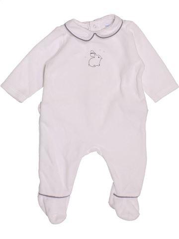 Pijama de 1 pieza unisex BOUT'CHOU blanco 1 mes invierno #1400453_1