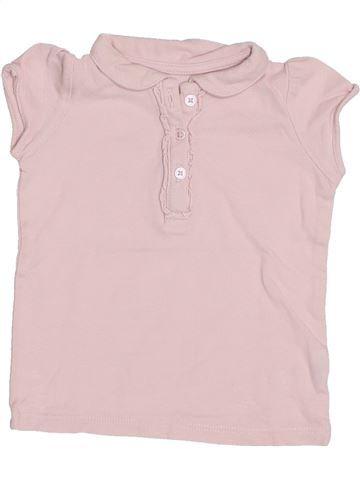 Polo de manga corta niña BOUT'CHOU rosa 6 meses verano #1400464_1