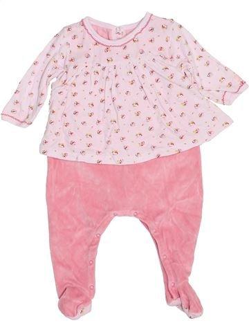 Pyjama 1 pièce fille PETIT BATEAU rose 6 mois hiver #1400534_1