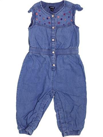 Combinación larga niña KIABI azul 12 meses verano #1400760_1