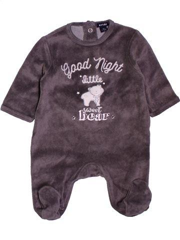 Pyjama 1 pièce garçon KIABI marron 1 mois hiver #1400813_1