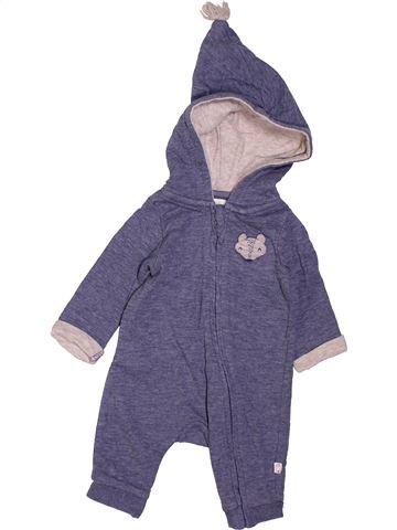 Combinaison longue garçon TAPE À L'OEIL violet 1 mois hiver #1400822_1
