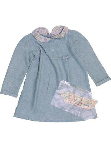 Robe fille CYRILLUS bleu 12 mois hiver #1400886_1