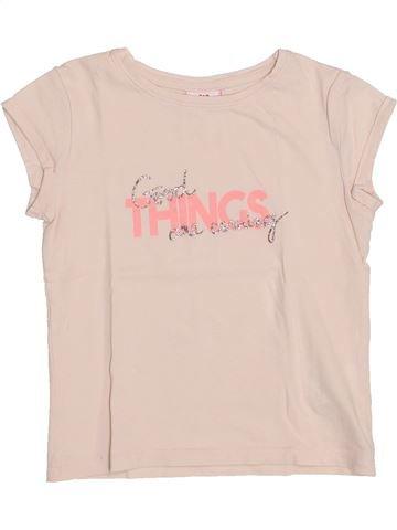 T-shirt manches courtes fille TAPE À L'OEIL beige 4 ans été #1400938_1