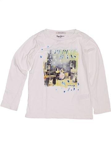 T-shirt manches longues garçon PEPE JEANS blanc 6 ans hiver #1400942_1