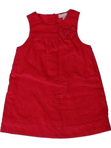 Robe fille GRAIN DE BLÉ rouge 6 mois hiver #1401005_1