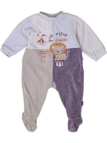 Pijama de 1 pieza niño ABSORBA blanco 12 meses invierno #1401019_1