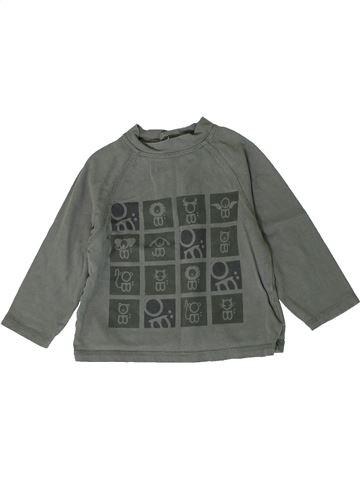 T-shirt manches longues garçon OKAIDI gris 18 mois hiver #1401053_1