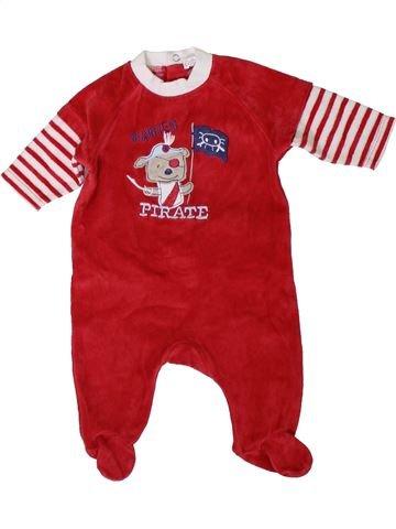 Pijama de 1 pieza niño KIABI rojo 3 meses invierno #1401115_1