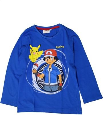 T-shirt manches longues garçon POKEMON bleu 6 ans hiver #1401170_1