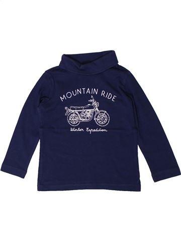 T-shirt col roulé garçon VERTBAUDET bleu 3 ans hiver #1401244_1