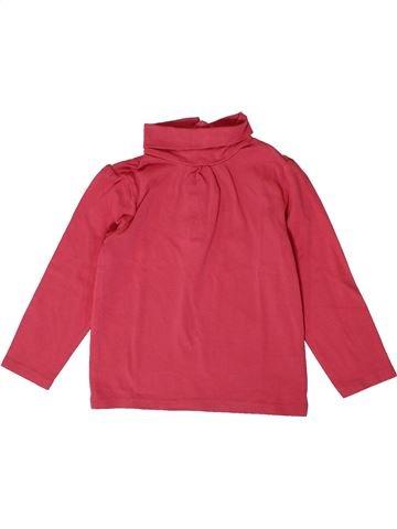 T-shirt col roulé fille KIABI rose 3 ans hiver #1401263_1