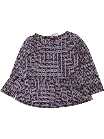 Blusa de manga larga niña GEMO violeta 3 años invierno #1401275_1
