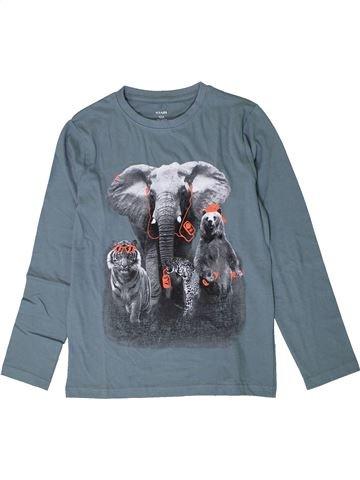 T-shirt manches longues garçon KIABI bleu 10 ans hiver #1401314_1