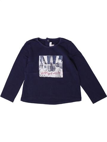 T-shirt manches longues fille ABSORBA bleu 3 ans hiver #1401335_1