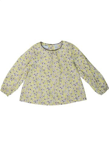 Blouse manches longues fille OKAIDI beige 2 ans hiver #1401389_1
