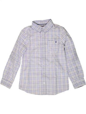 Chemise manches longues garçon OKAIDI blanc 8 ans hiver #1401393_1