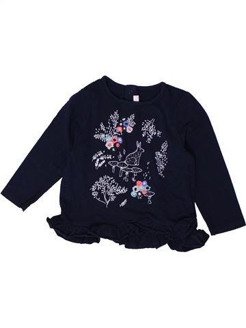 T-shirt manches longues fille BILLIEBLUSH noir 18 mois hiver #1401425_1