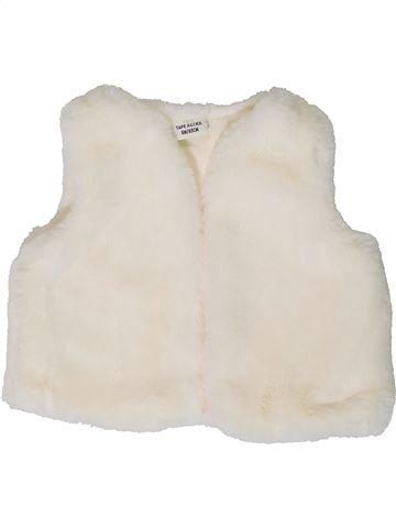 Gilet fille TAPE À L'OEIL blanc 6 mois hiver #1401428_1