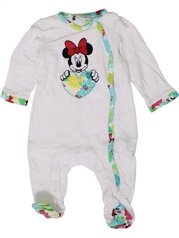 Pyjama 1 pièce fille DISNEY blanc 9 mois été #1401430_1