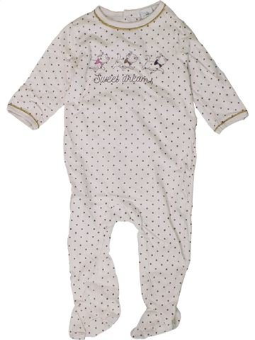 Pijama de 1 pieza niña DISNEY blanco 12 meses verano #1401437_1