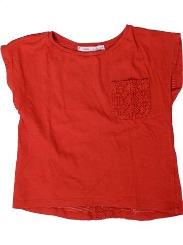 T-shirt manches courtes fille GEMO rouge 6 ans été #1401446_1