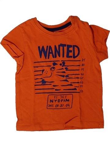 T-shirt manches courtes garçon DPAM orange 9 mois été #1401452_1