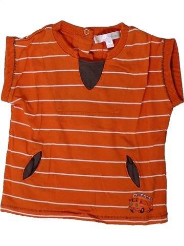 T-shirt manches courtes garçon KIABI orange 6 mois été #1401456_1