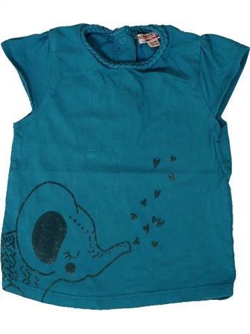 T-shirt manches courtes fille DPAM bleu 12 mois été #1401490_1