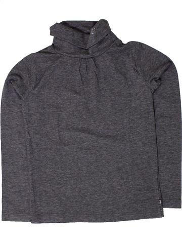 T-shirt col roulé fille OKAIDI gris 5 ans hiver #1401589_1