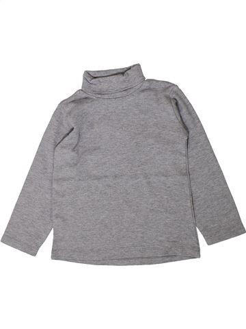 T-shirt col roulé unisexe ZARA gris 3 ans hiver #1401597_1