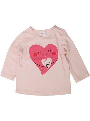 T-shirt manches longues fille H&M violet 9 mois hiver #1401609_1
