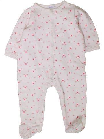 Pyjama 1 pièce fille BOUT'CHOU blanc 12 mois hiver #1401616_1