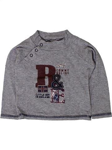 T-shirt manches longues garçon TAPE À L'OEIL gris 18 mois hiver #1401620_1