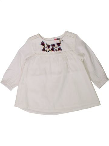 Blouse manches longues fille ORCHESTRA blanc 12 mois hiver #1401634_1