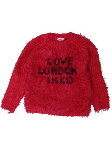 Pull fille IKKS rouge 4 ans hiver #1401652_1