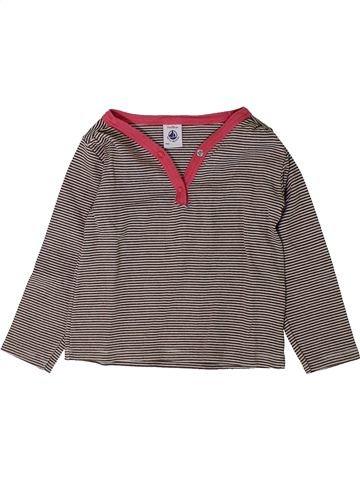 T-shirt manches longues fille PETIT BATEAU gris 2 ans hiver #1401686_1